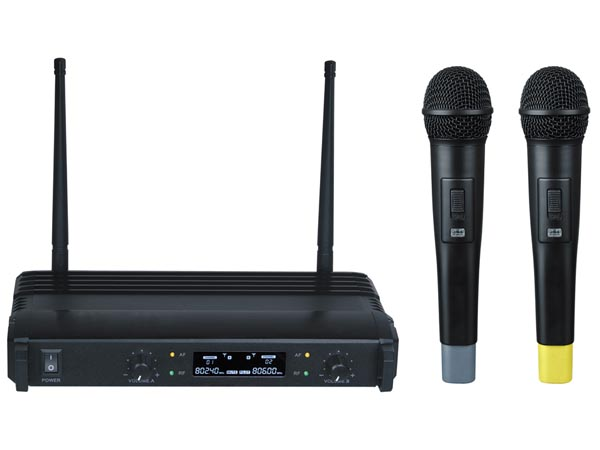 DUAL-CHANNEL WIRELESS MICROPHONE SYSTEM