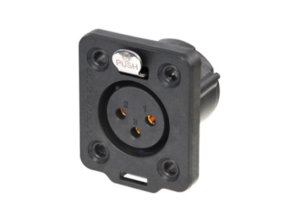 NEUTRIK - TOP SERIES HEAVY-DUTY XLR 3 POLE FEMALE CHASSIS CONNECTOR