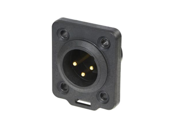 NEUTRIK - TOP SERIES HEAVY-DUTY XLR 3 POLE MALE CHASSIS CONNECTOR