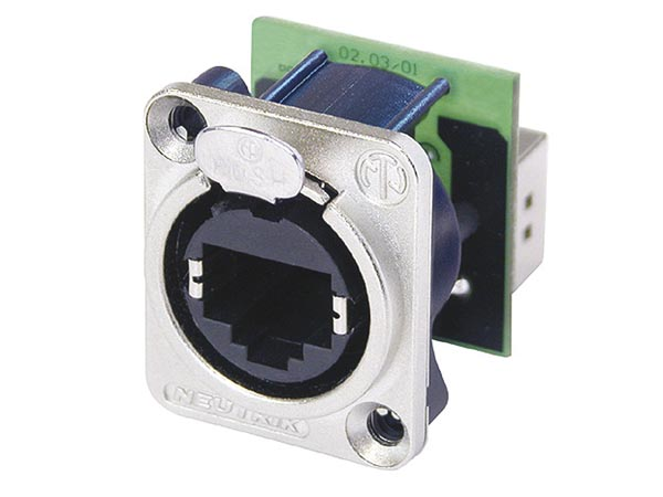 NEUTRIK - ETHERCON - METAL CHASSIS HOUSING WITH REAR-MOUNTED STANDARD RJ45