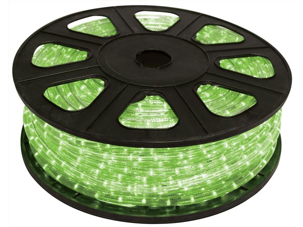 Green LED Rope Light - 45m