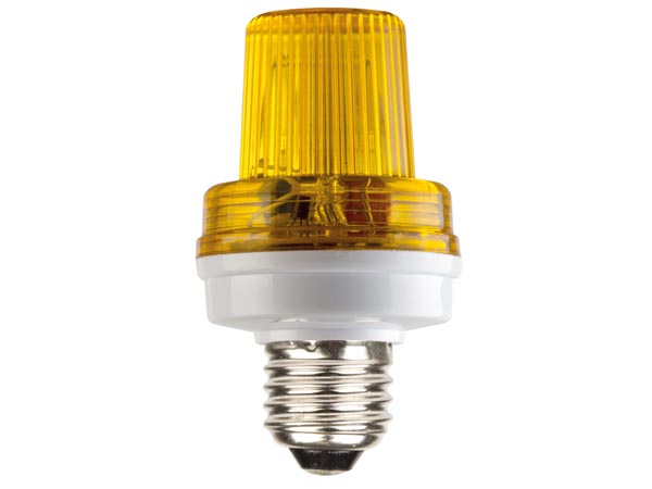 MINI STROBE LAMP YELLOW, 3.5W, E27 SOCKET