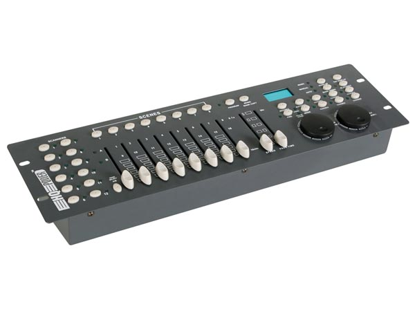 240-CHANNEL DMX CONTROLLER WITH JOG WHEELS