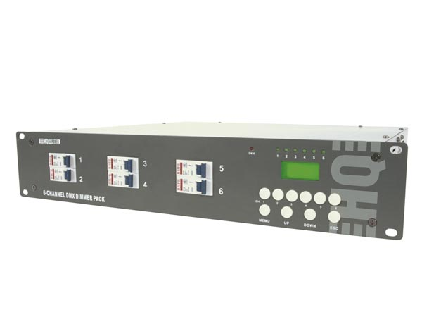 6-CHANNEL DMX DIMMER PACK (6 x 10A) WITH LCD