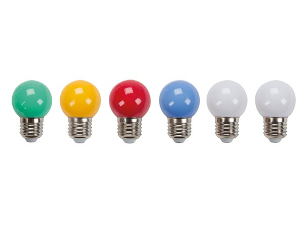 COLOURED LED LAMPS - (10pcs)