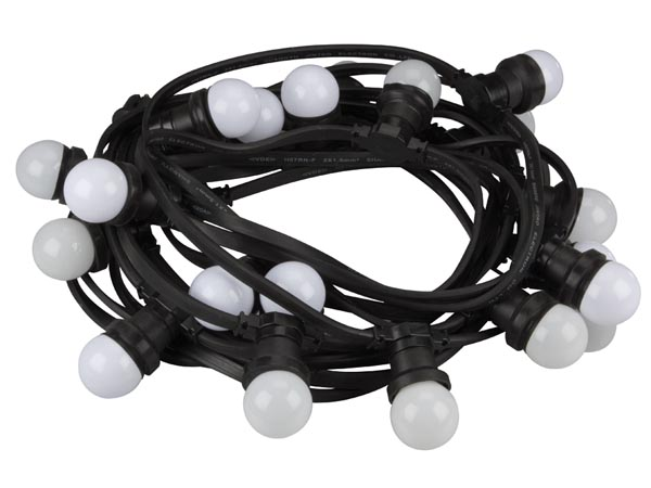 LED PARTY LIGHT CHAIN, 11.5 m, 20 WARM WHITE LED LAMPS