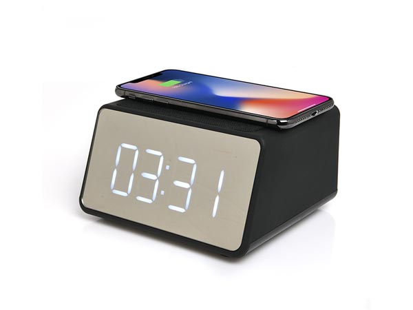 Alarm Clock With Bluetooth Speaker And Wireless Charging - 3 W