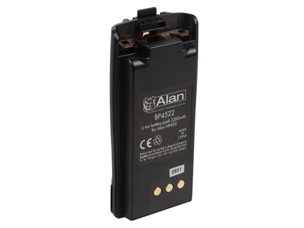 Spare Battery  Li-ion -2200mah For Aln003 (g7) & Aln006 (alan Hp450l - Pmr446+pmr  - Ip67)