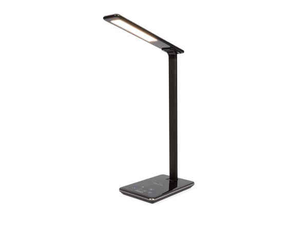 DIMMable LED Light Desk Lamp + Wireless Charger - 48 DIMMing LEDs - Abs + Aluminum
