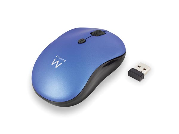 EWENT - WIRELESS OPTICAL MOUSE 800/1200/1600 dpi - BLUE