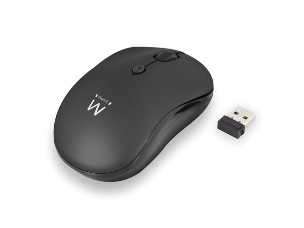 EWENT - WIRELESS OPTICAL MOUSE 800/1200/1600 dpi - black