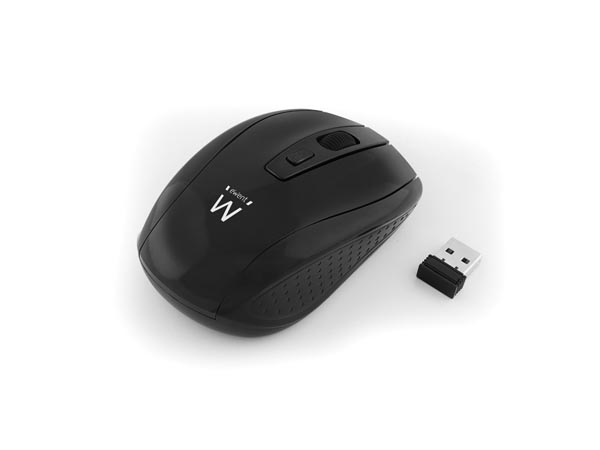 EWENT - WIRELESS OPTICAL MOUSE 1000/1200/1600 dpi - BLACK