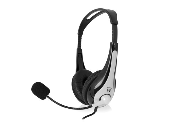 EWENT - STEREO HEADSET WITH MICROPHONE & VOLUME CONTROL