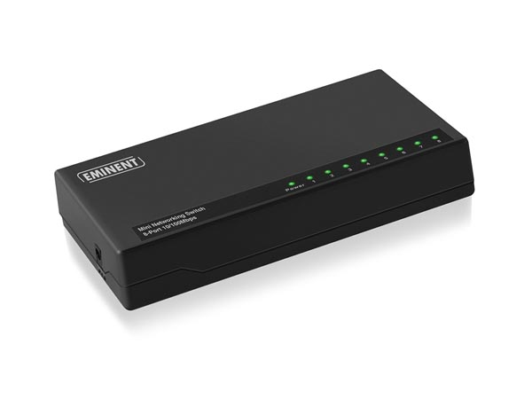 EMINENT - 8 PORT MINI NETWORKING SWITCH 10/100 Mbps N-WAY