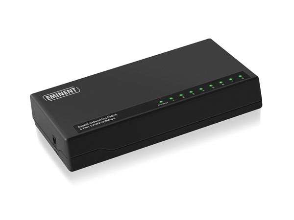 EMINENT - 8 PORTS GIGABIT NETWORKING SWITCH - 10/100/1000 Mbps