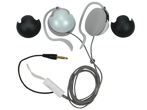 CLIP-ON STEREO EARPHONES - WITH NECK STRAP