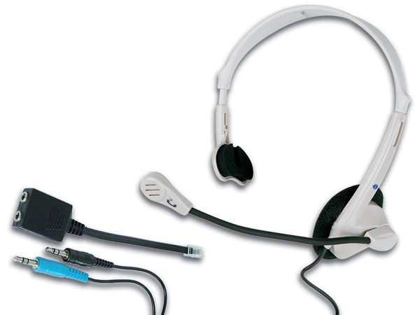 TELEPHONE & MULTIMEDIA HEADSET + MICROPHONE