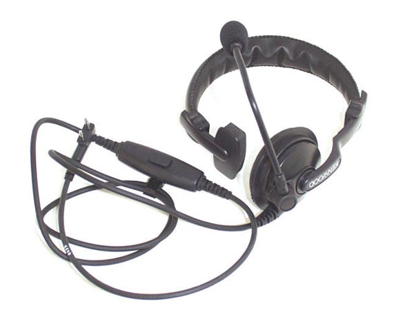 Kenwood Khs-7a Single Muff Headset With Boom Mic Ptt