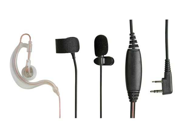Kenwood Ear-mike Transparent With Finger Ptt Voc