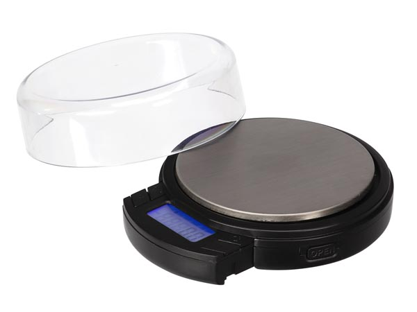 DIGITAL MINI ROUND PRECISION SCALE - 500 g / 0.1 g with retractable LCD display
