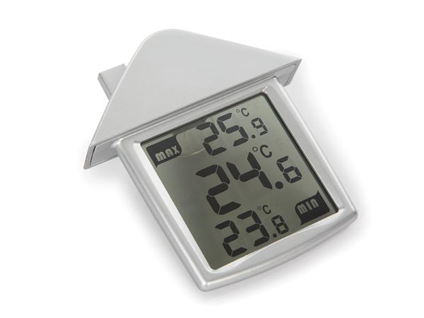 Transparent Window Thermometer With Min/max Temperatures
