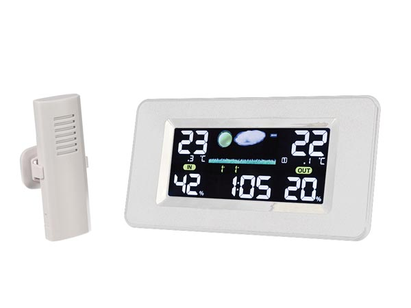 Wireless Indoor & Outdoor Weather Station With Large Colour Display