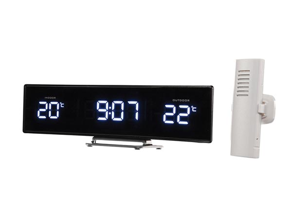 Clock With Indoor & Outdoor Temperature Display