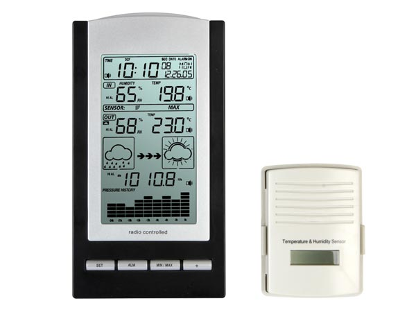 WIRELESS WEATHER STATION WITH DCF CLOCK AND OUTDOOR SENSOR