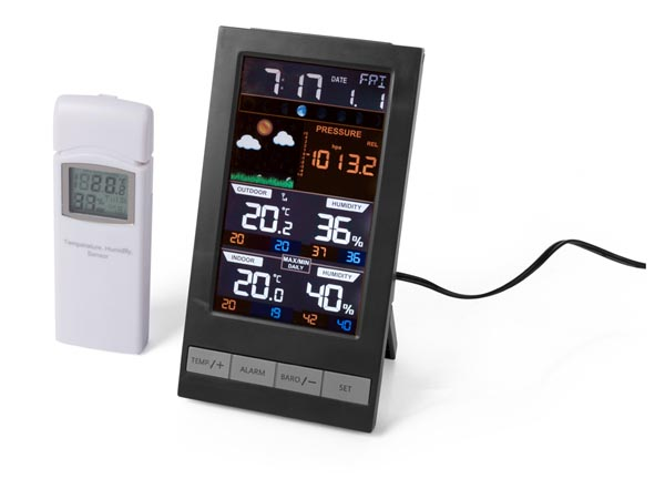 WIRELESS WEATHER STATION WITH COLOUR DISPLAY