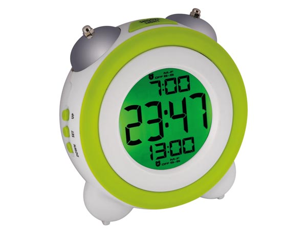 DIGITAL MECHANICAL DOUBLE BELL CLOCK