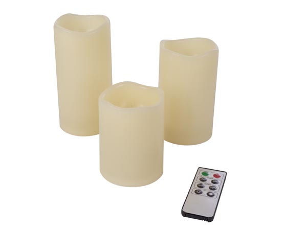 CANDLE LIGHT - WITH REMOTE CONTROLLER - 3 pcs