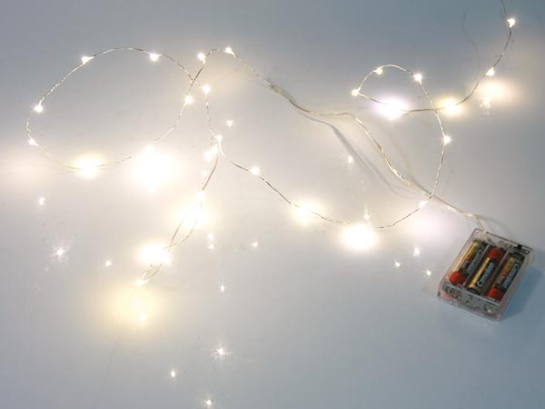 LED Garland - Warm White - 20 LEDs - Battery