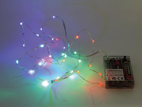 LED Garland - RGB - 20 LEDs - Battery