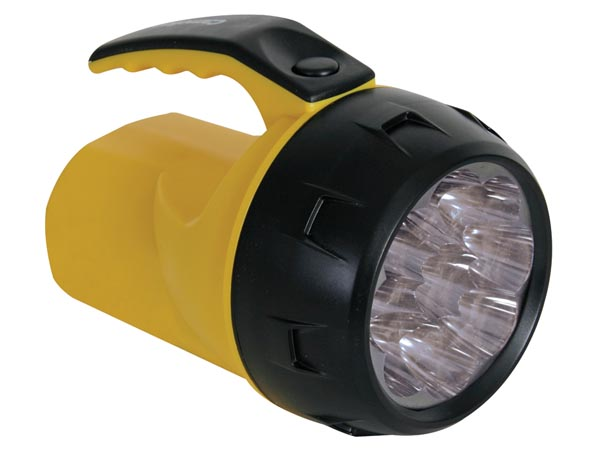 LED POWER TORCH - 9 LEDs - WITH 4 x AA-CELL