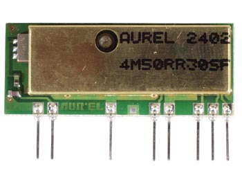 Aurel RX4M50RR30SF: RX AM OOK 433 92MHz QUALITY RECEIVER