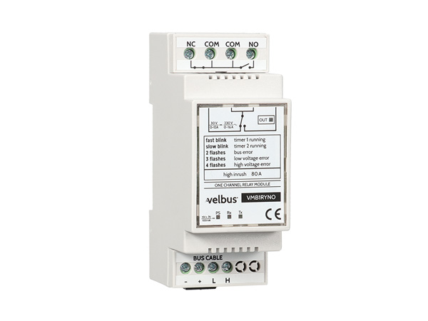 1-channel Velbus Relay Module