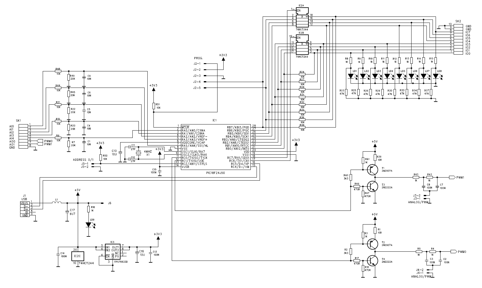 vm167 firmware and schematic diagram of the board - pc related projects