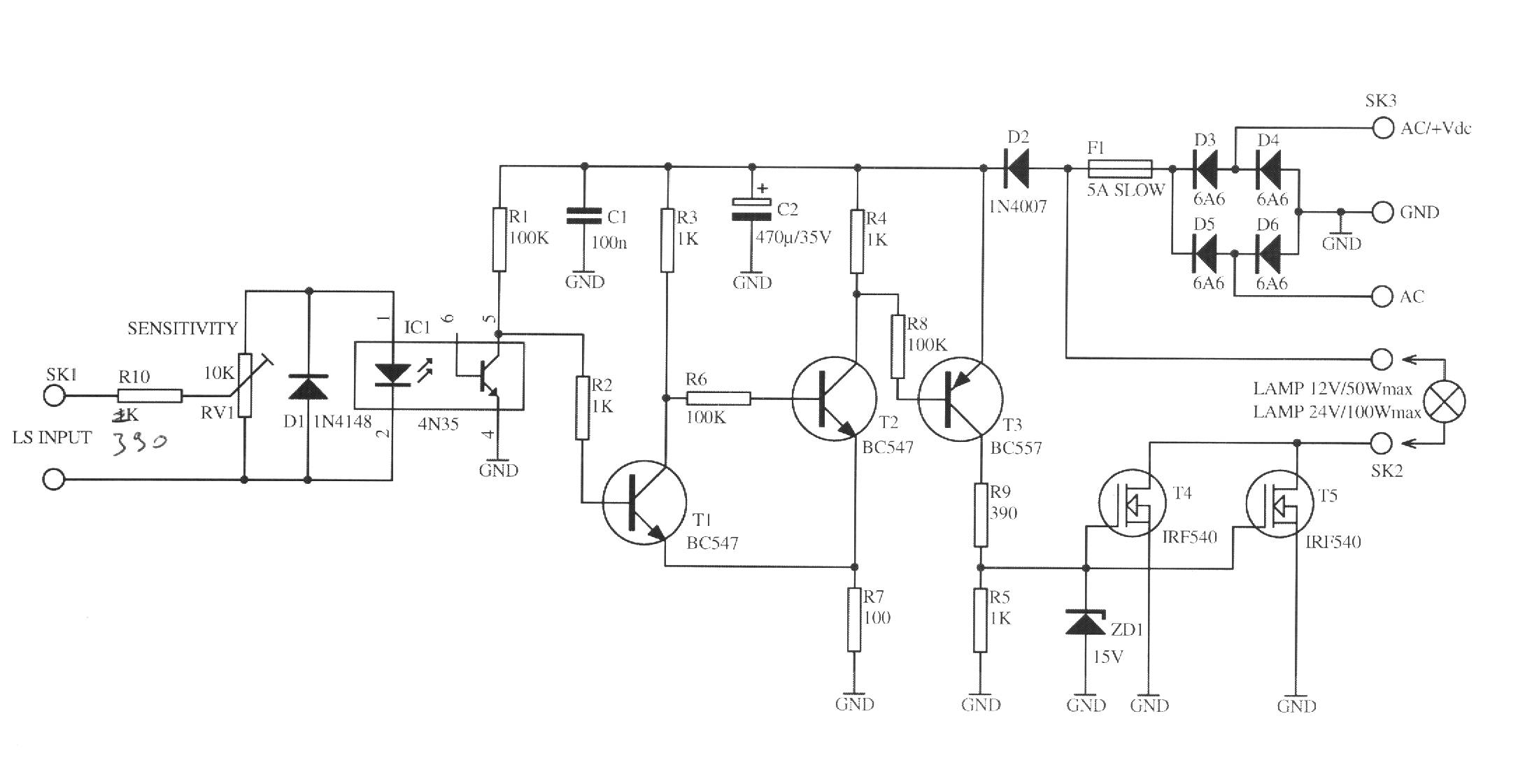 Mk on Led Schematic Diagram